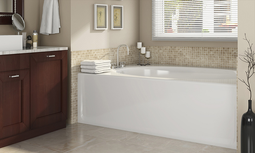 Signature® Rectangle Skirted Bath with Armrests - Backyard & Home