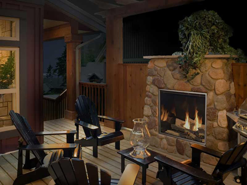 Outdoor Gas Fireplaces Family Image