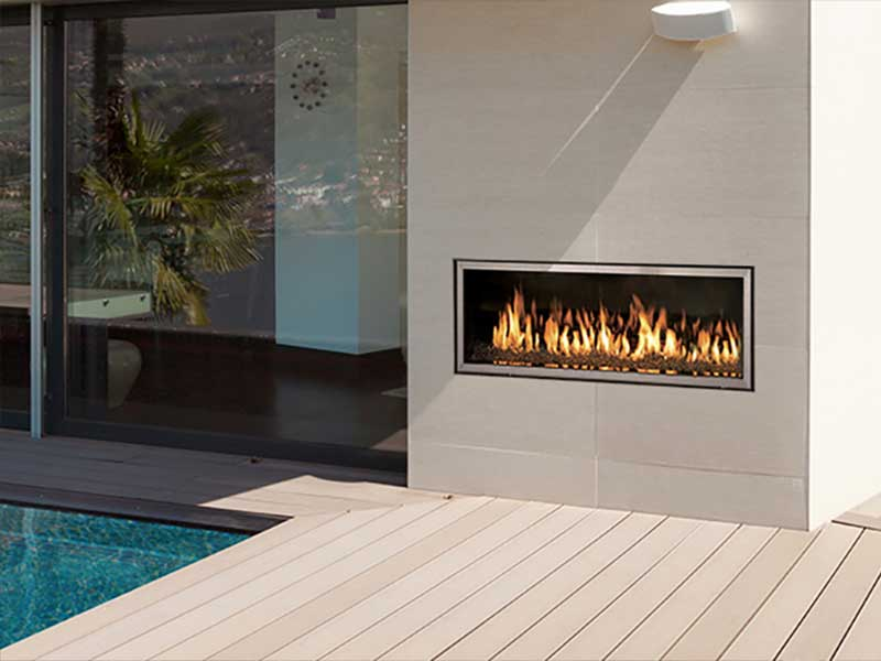 Indoor-Outdoor Gas Fireplaces Family Image