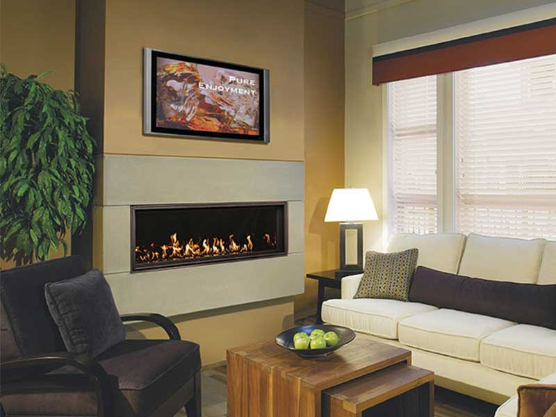 Indoor Gas Fireplaces Family Image