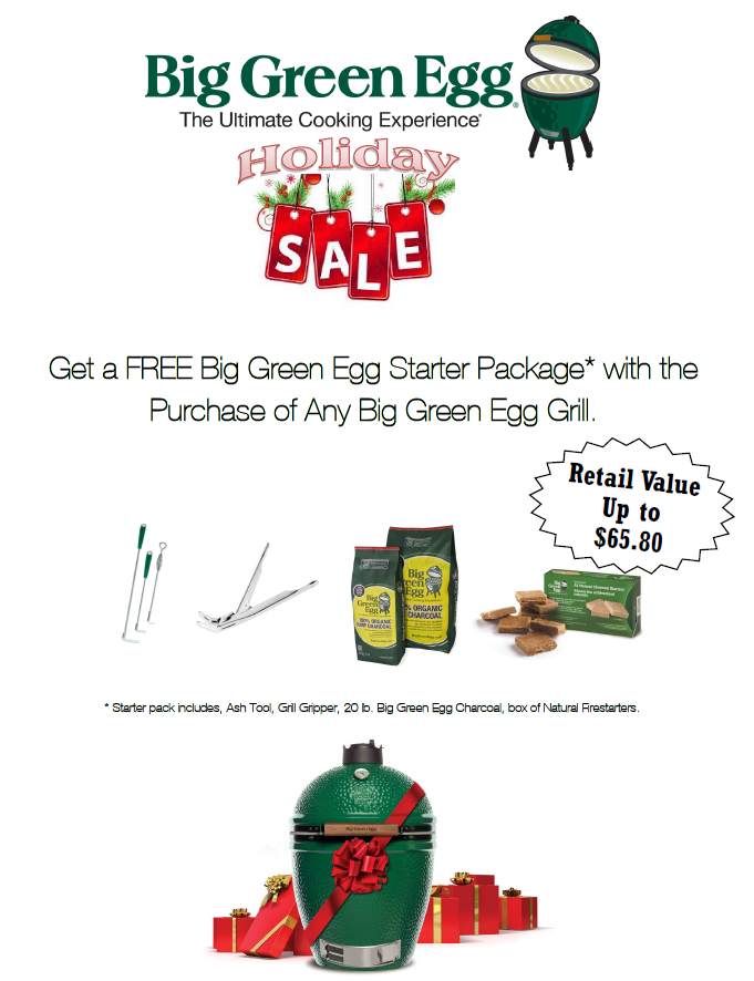 Big Green Egg Holiday Sale
