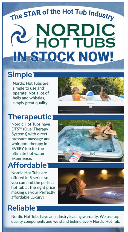 Nordic Hot Tubs In Stock Now!
