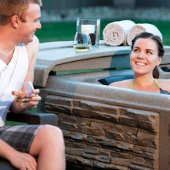 Couple in Tuff Spas Hot tub