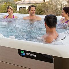 Friends enjoying their hot tub in Oklahoma City
