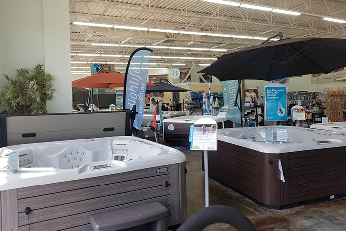 Hot Spring hot tubs on display in OKC