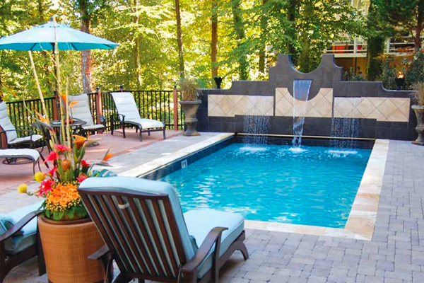 In-Ground Fiberglass Pools Family Image