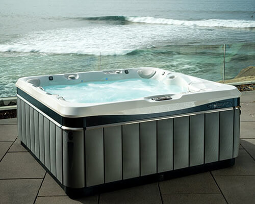 Exterior features of a hot tub for cost