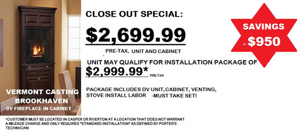 Casper Clearance at Porter's Mountain View Supply