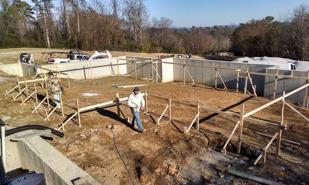 New Pool Construction Family Image